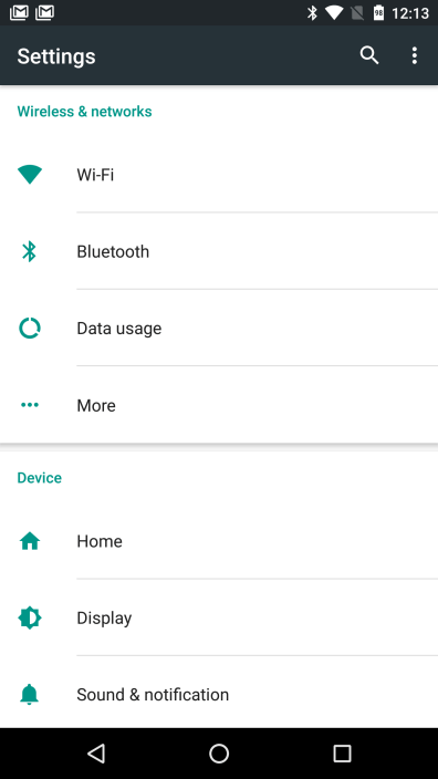 Android Marshmallow Settings