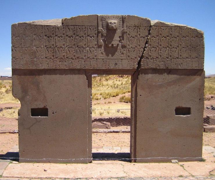 Tiwanaku : The Sun Gate over Kalasasaya temple