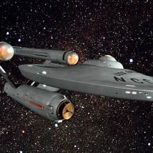 The Starship Enterprise from the Star Trek franchise.