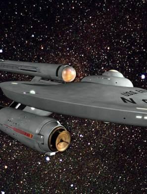 The Starship Enterprise from the Star Trek franchise.
