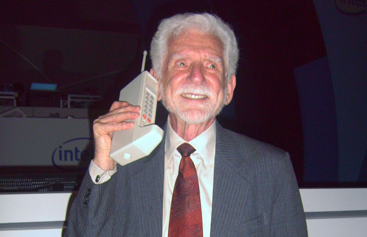 Motorola's Martin Cooper Invents The First Cell Phone