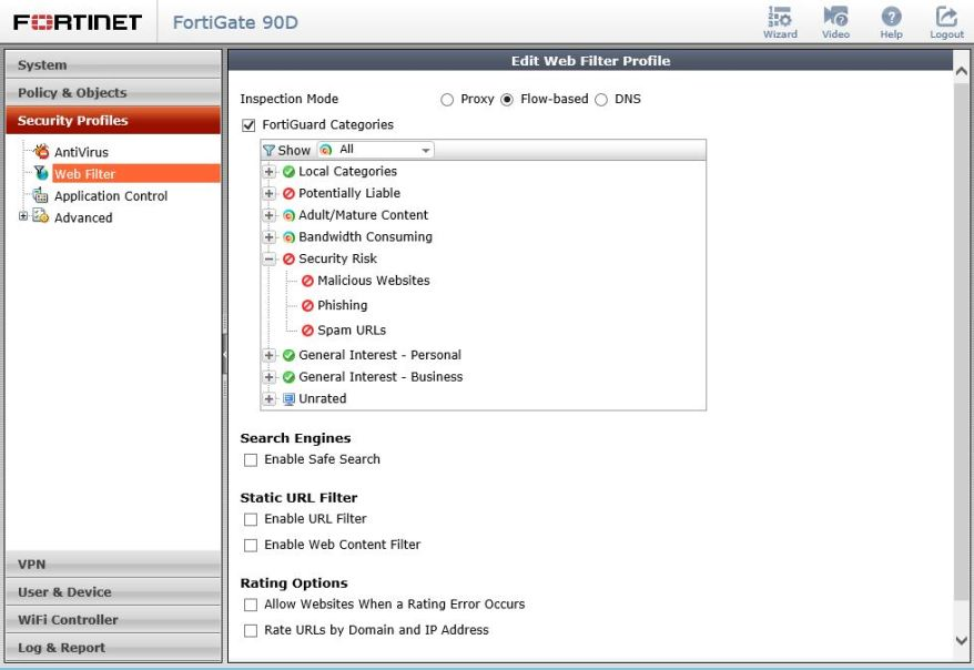 Fortinet Web Filter Security Risk