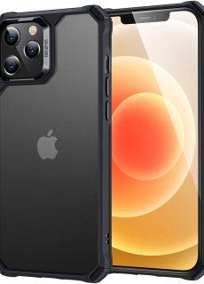 Apple iPhone 12 / iPhone 12 Pro Air Armor Rugged TPU Case – Translucent Black