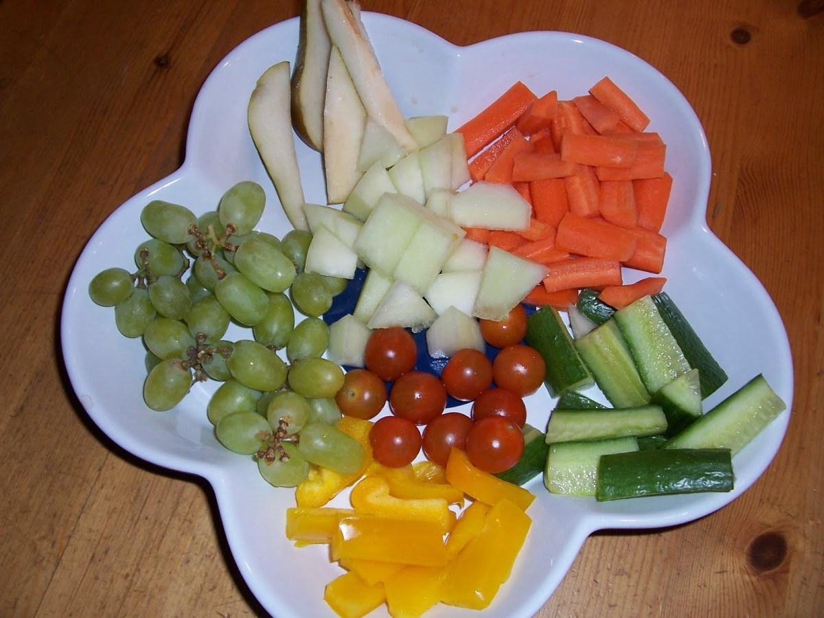 Frukt- och grönsaksfat