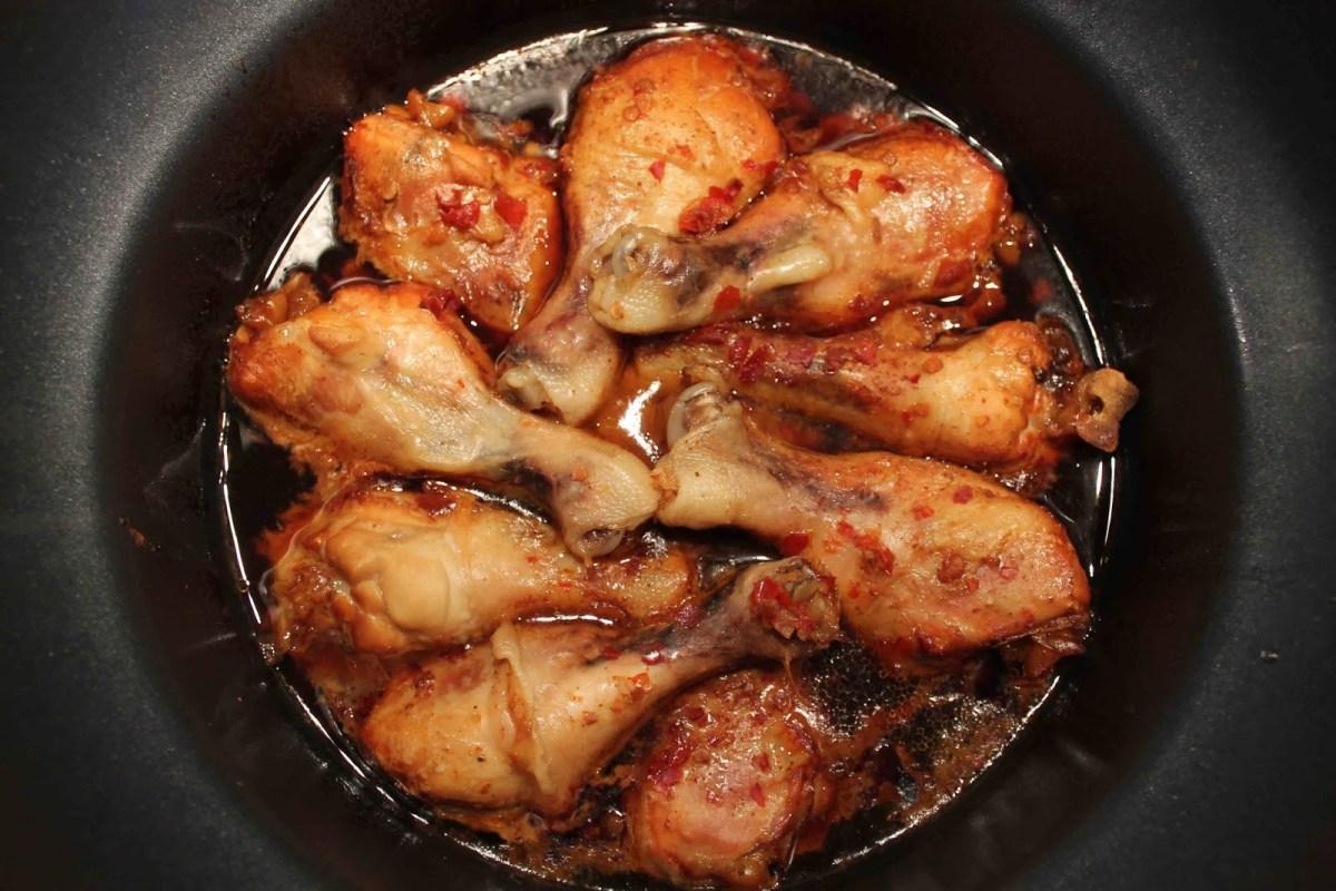 Ingefära- och chilikryddade kycklingben