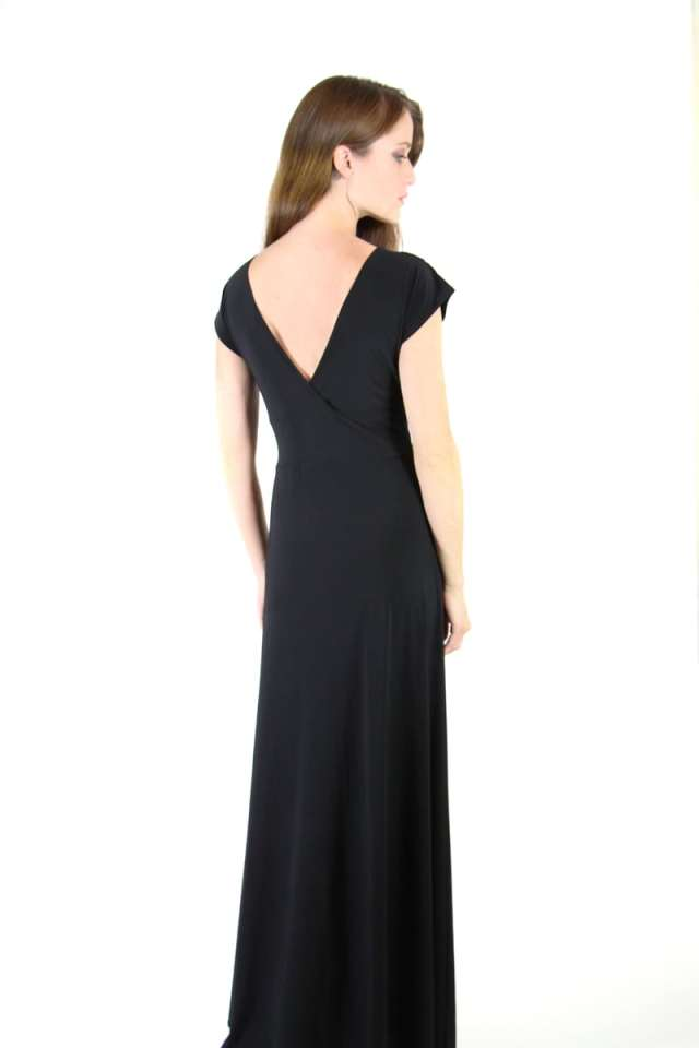 Black Veronica Lake Maxi Dress