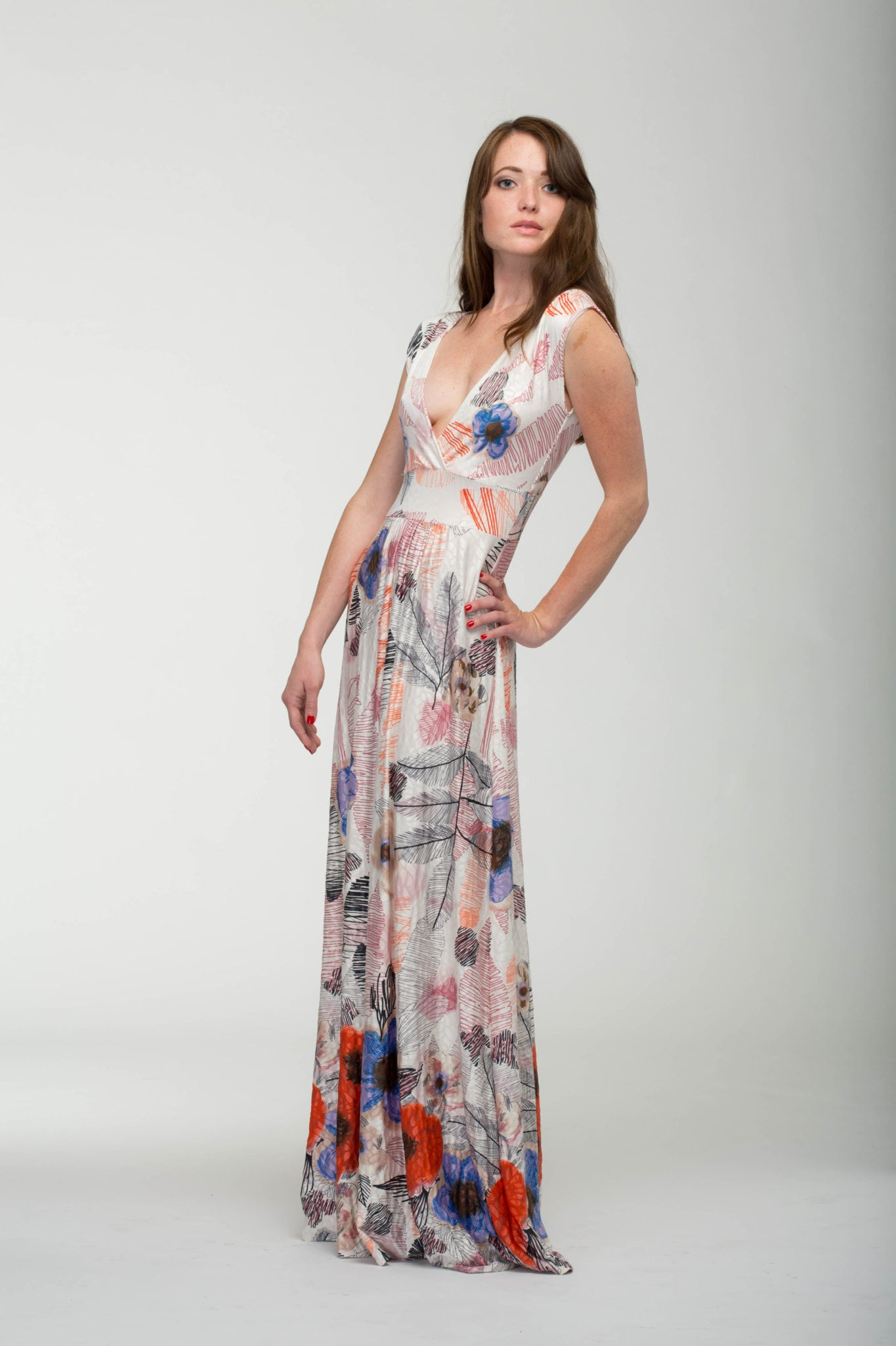 Veronica Lake Floral Maxi Dress