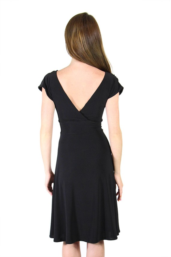 Black Veronica Lake Dress Knee Length Dress