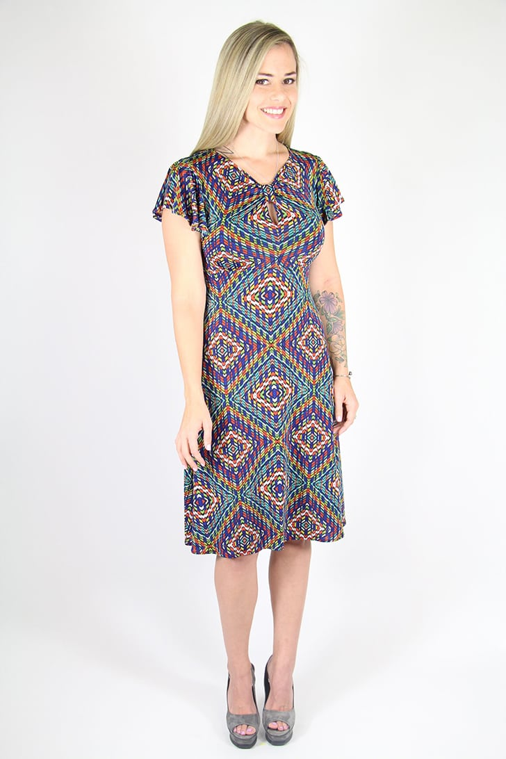 Kaleidoscope Keyhole Dress