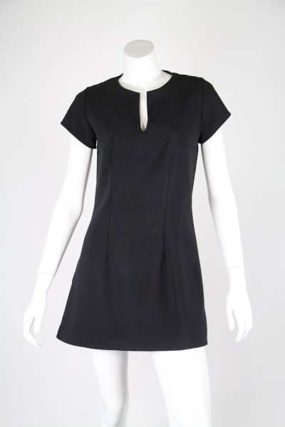 Black Tunic Dress With Darts