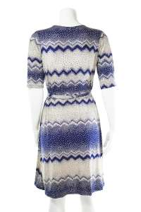 Blue Hokusai Wave Wrap Dress