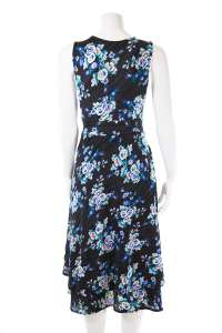 Black and Blue Floral Ribbed Cleopatra
