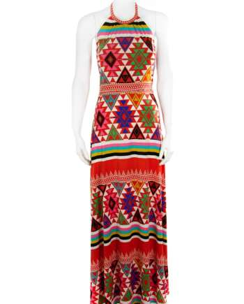 Desert vibes long halter dress