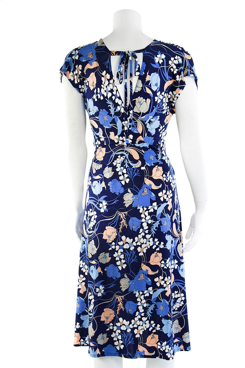 Veronica Lake Blue Lily Midi Dress