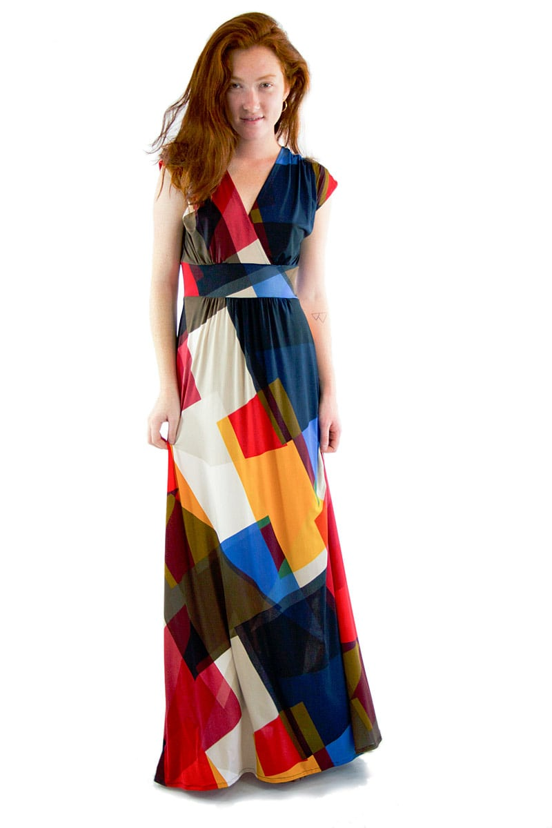 Prism Geometric Veronica Lake Maxi Dress