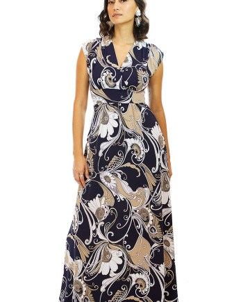 Winter Sunflower Maxi Veronica Lake Dress