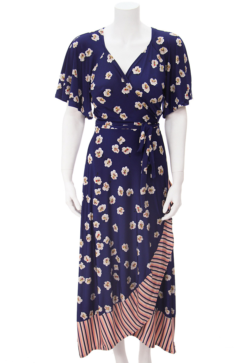 Navy Flower Stripped Scarlet Dress