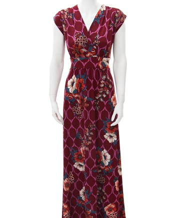 Red Lattice Maxi Veronica Lake
