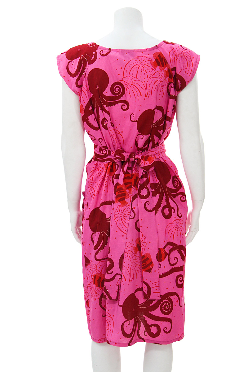 pink octopus belted blouse