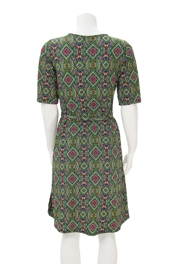Green Goddess Wrap Dress