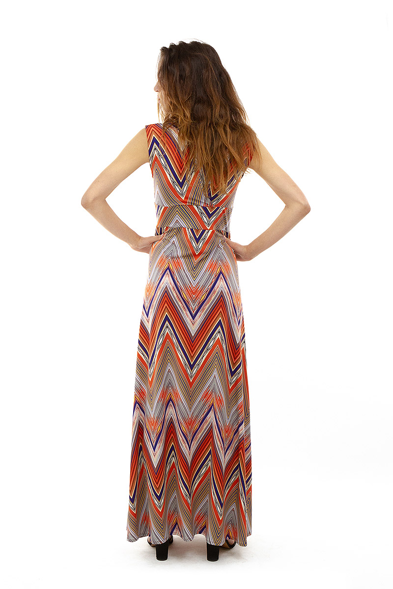 Vintage Inspired Zig Zag Veronica Lake Maxi