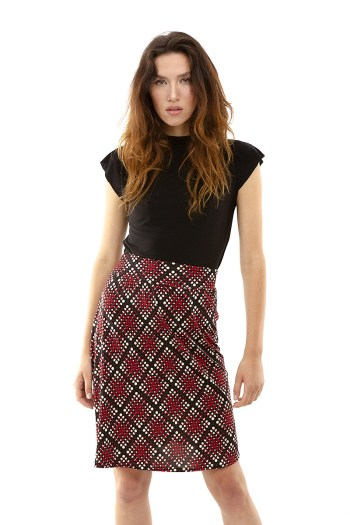 Red Dot and Black Diamond Skirt