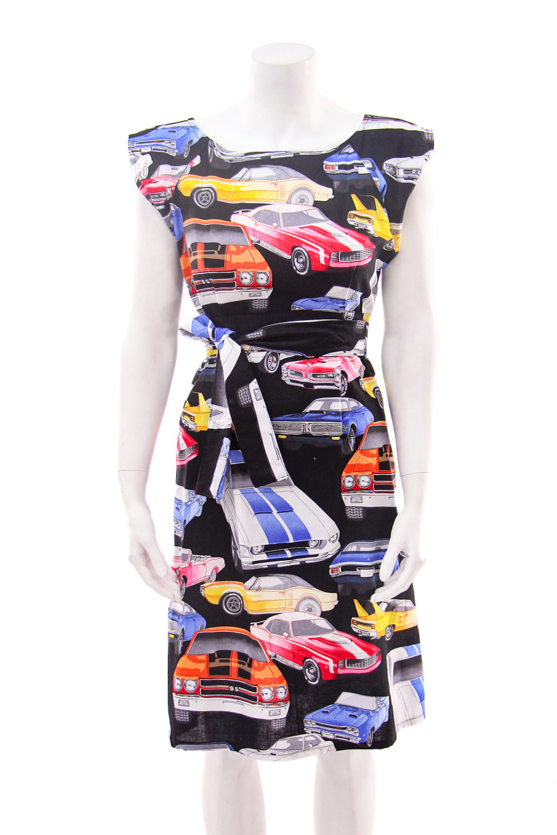 Muscle Car Belted Blouse Dress