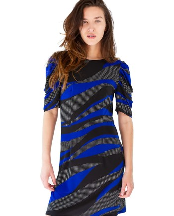 Black and Blue Wave Dynasty Dress