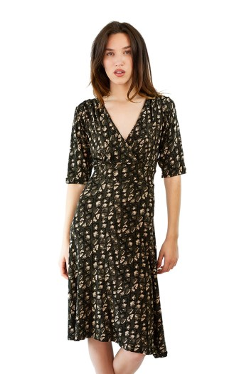 Speckled Olive Cleopatra Dress