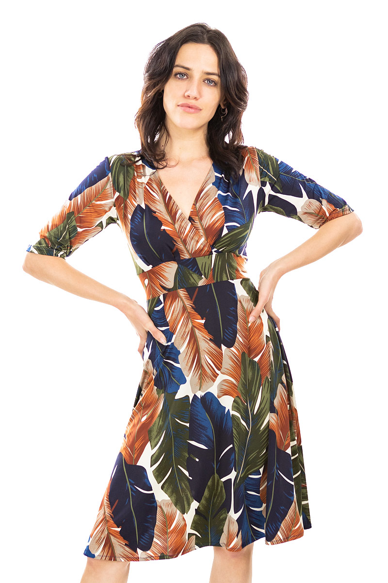 Palm Leaf Cleopatra Dress