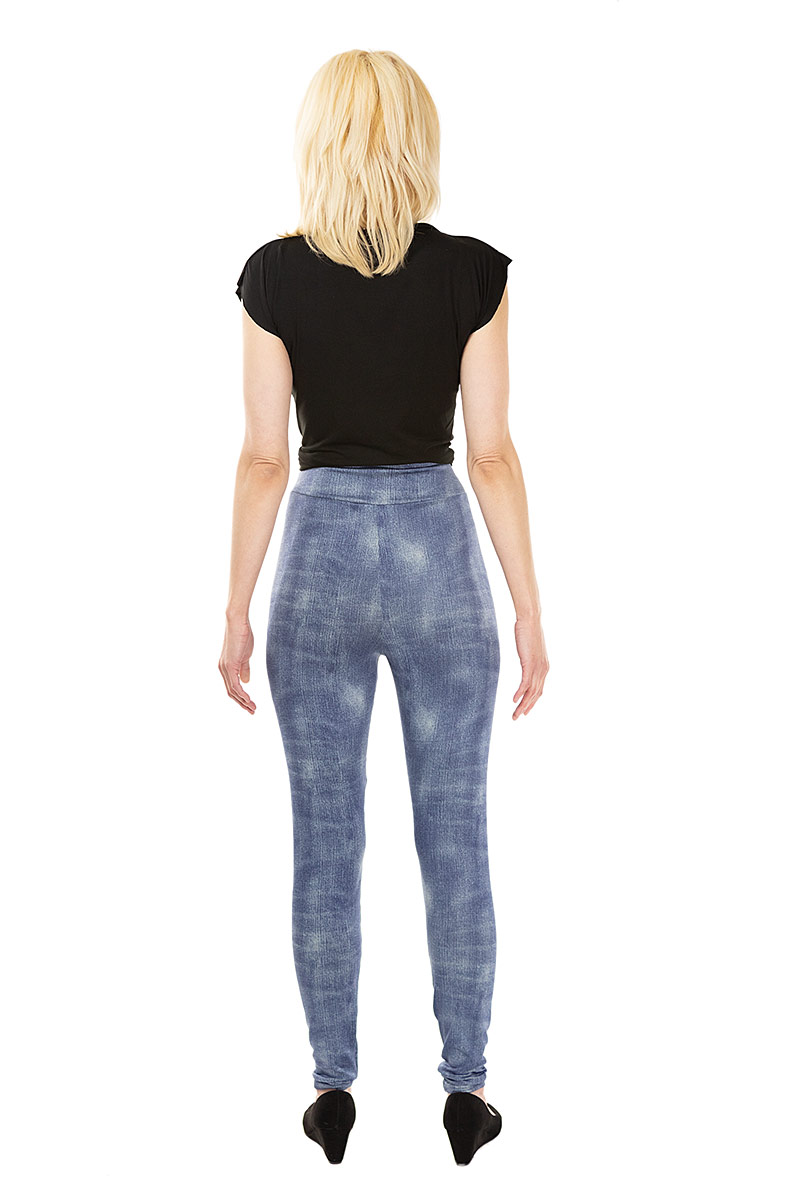 Faded Denim Leggings