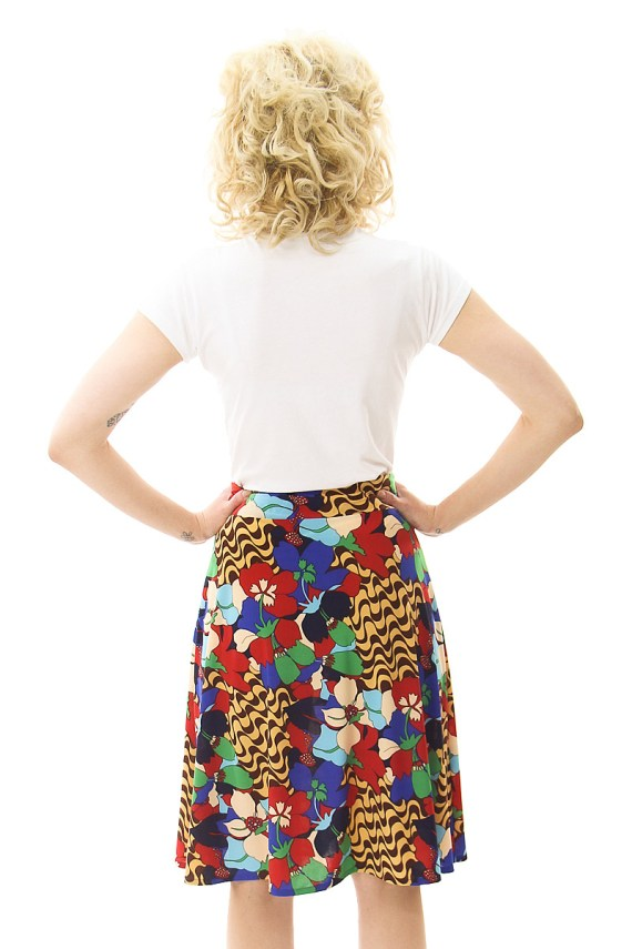60's Fun Floral Cleo Skirt