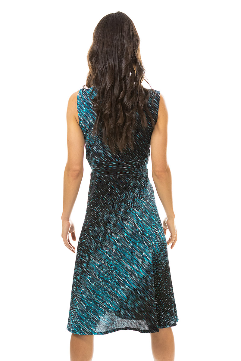 Teal and Black Ribbed Cleopatra