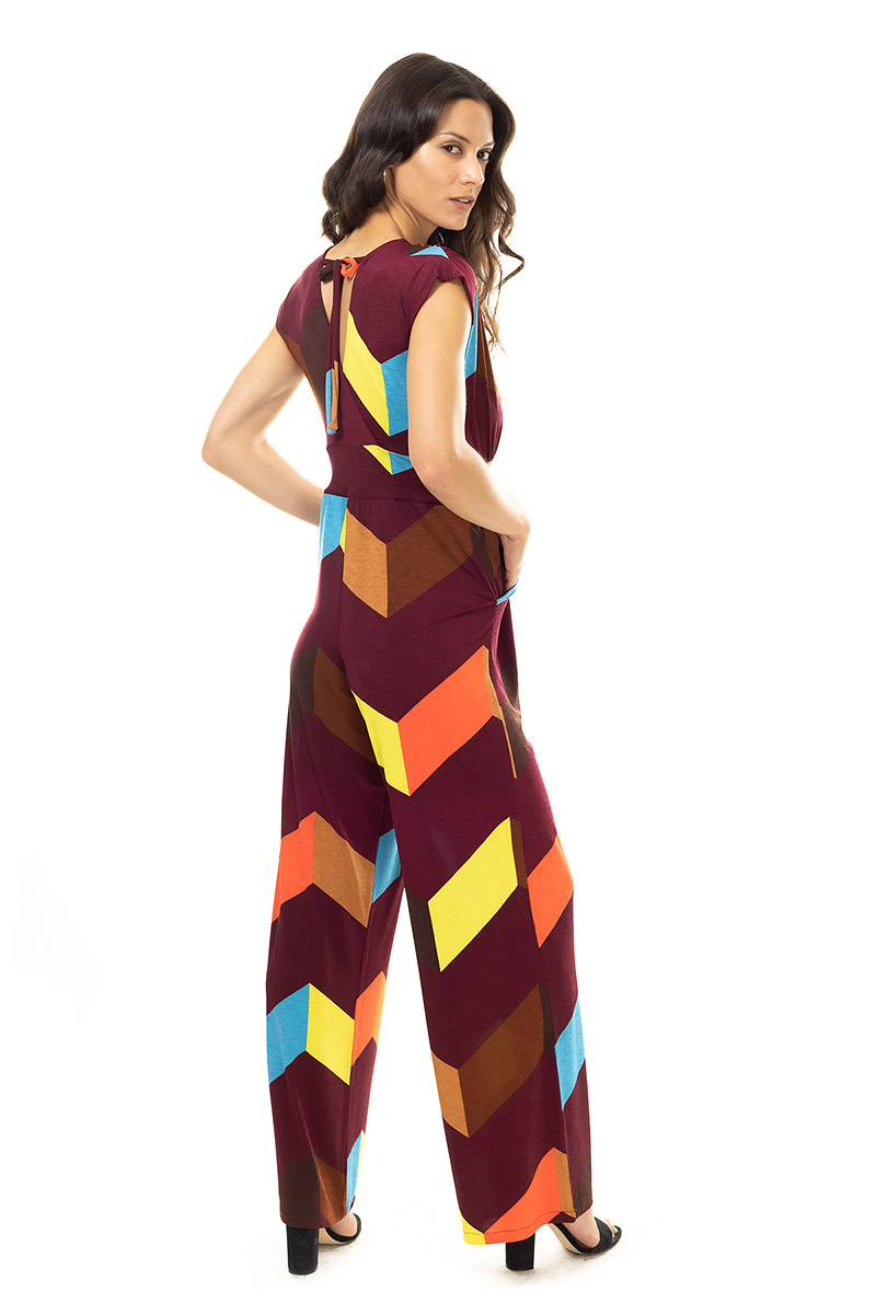 Geo Chevron Jumpsuit