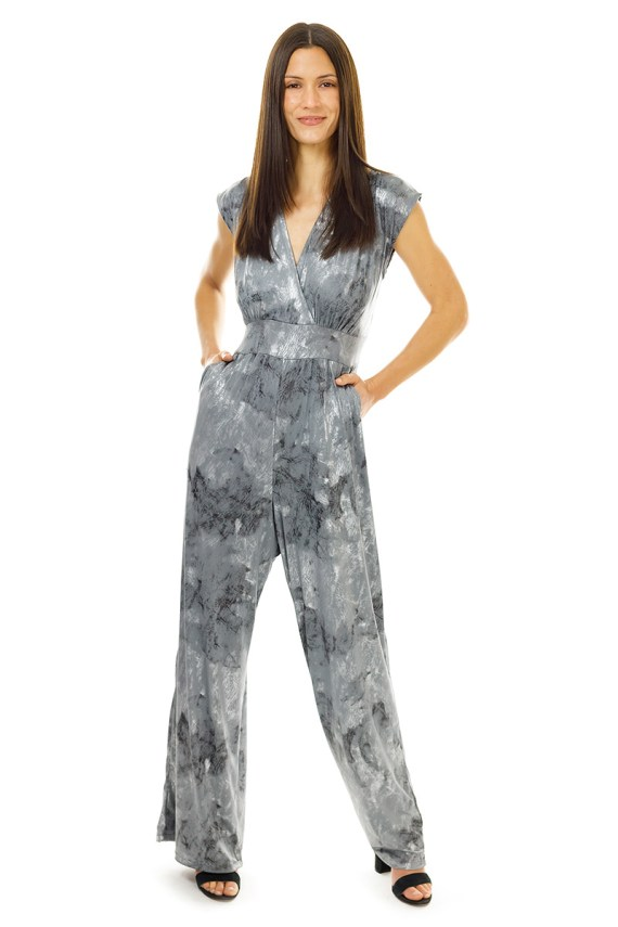 Silver Grey Jumpsuit