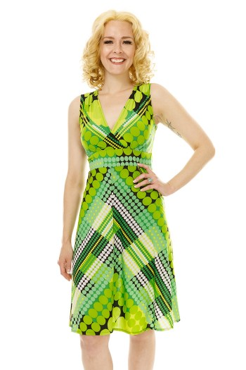 Green Bubbles Sleeveless Cleopatra