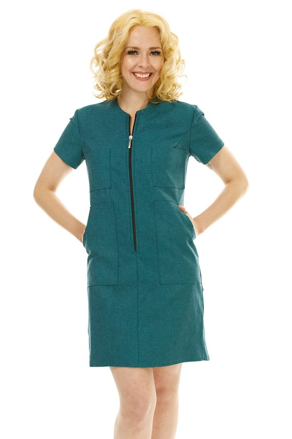 Teal Coverall Dress