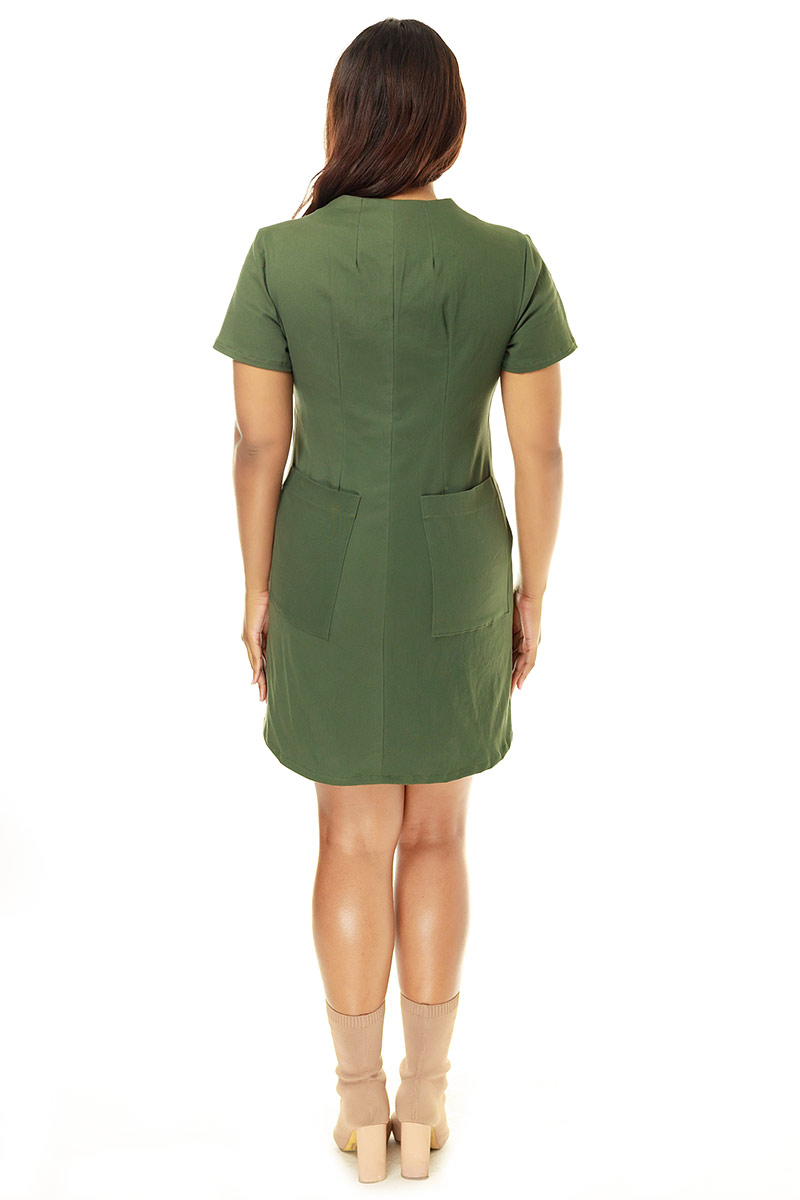 Olive Coverall Dress