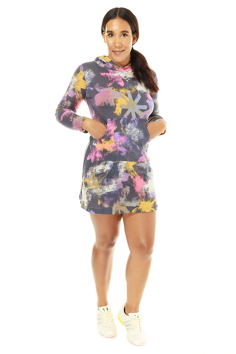 Abstract Asterisk Hoodie Dress