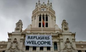 SOLIDARIDAD de los ciudadanos de Madrid con los refugiados