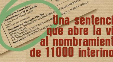 UNA SENTENCIA QUE ABRE LA VÍA AL NOMBRAMIENTO DE 11000 INTERINOS