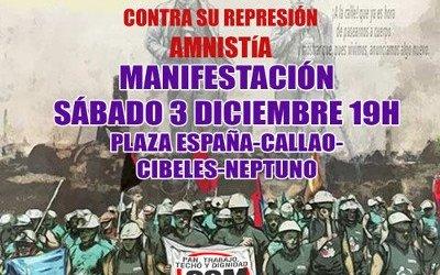 MANIFESTACIÓN sábado 3 Diciembre La Lucha es el Único Camino