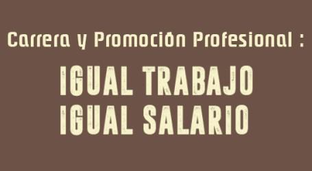 Carrera y Promoción Profesional : Igual Trabajo, Igual salario