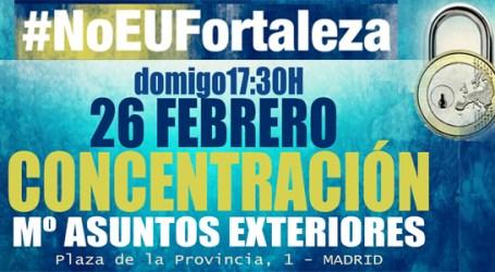 #NoEUFortaleza. CONCENTRACIÓN 26 FEBRERO. Mº de Asuntos Exteriores