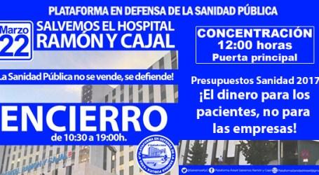 """El Hospital Ramón y Cajal convoca un encierro para frenar la """"destrucción"""" de la Sanidad Pública"""