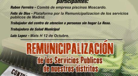 Acto público por la REMUNICIPALIZACIÓN. Martes 28 de Marzo