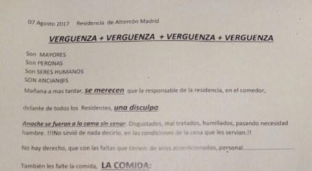 Los residentes de Alcorcón recogen firmas contra la calidad de la comida