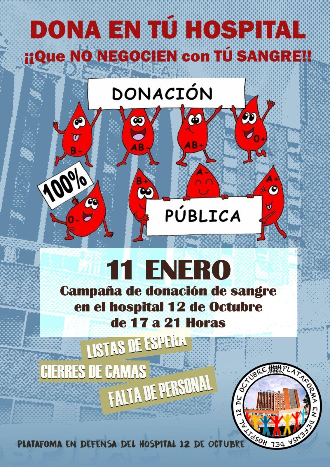 Donación Pública en el Hospital 12 de Octubre