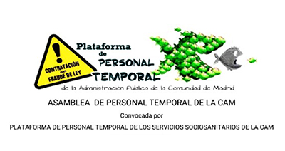 17M: Concentración de personal temporal ante la Asamblea de la Comunidad de Madrid