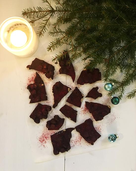 chokladbräck med rostade hasselnötter